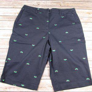 Briggs New York Bermuda Shorts Turtle Embroidery